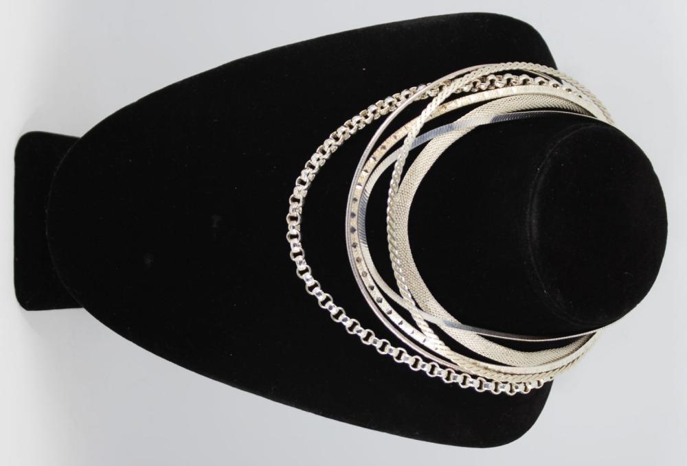 Milor Designer Sterling Silver Choker Necklaces