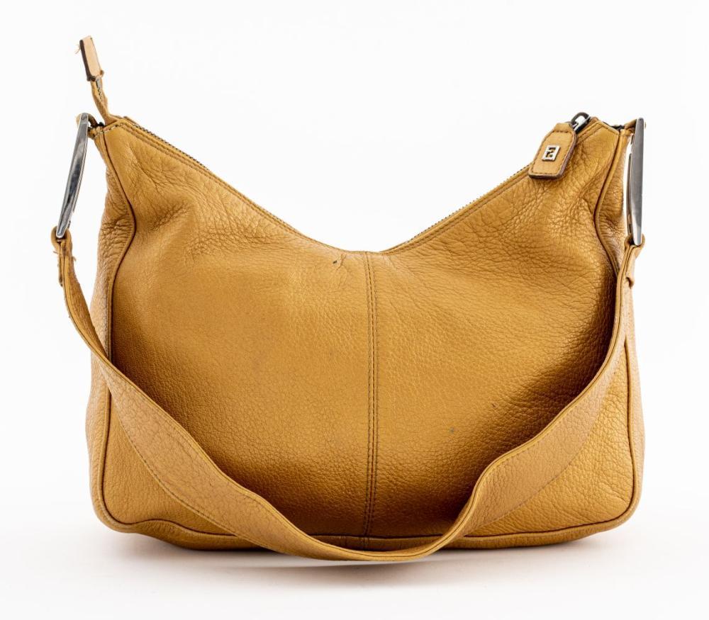 Fendi Metallic Leather Shoulder Bag