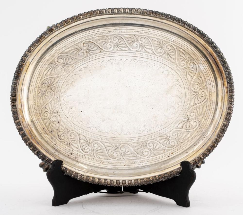 Silver-Plate Oval Tray