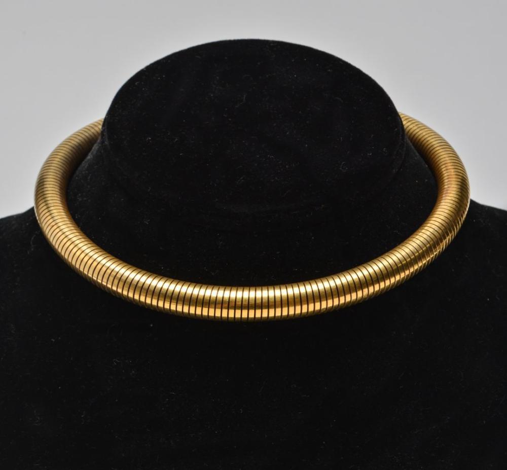 Gold-Tone Flex Choker / Necklace C. 1940.