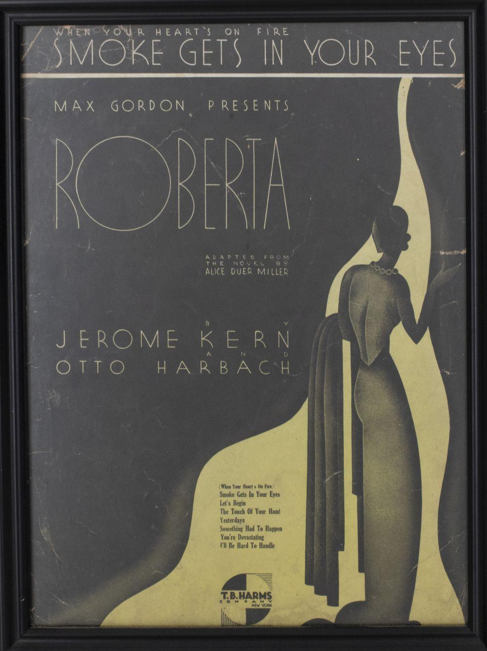 Framed Vintage New York Show Poster