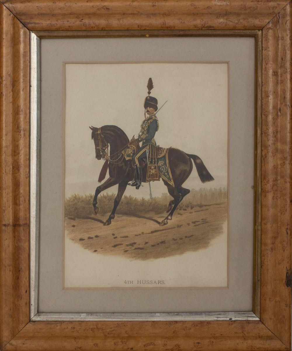 """19th C. Print Reproduction, """"4th Hussars"""""""