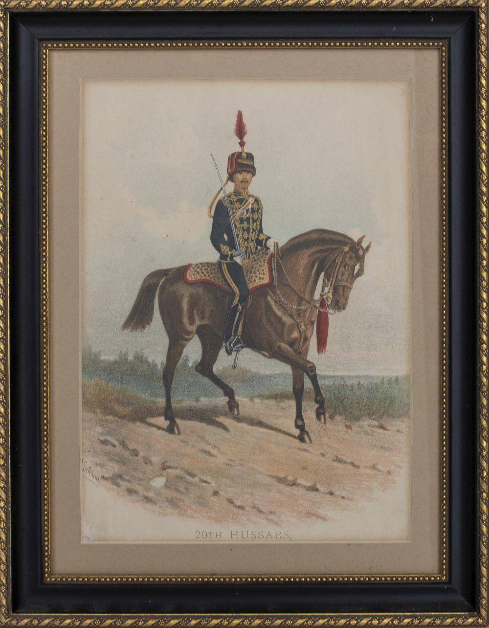 """R. Simkin, """"20th Hussars"""" Lithograph"""