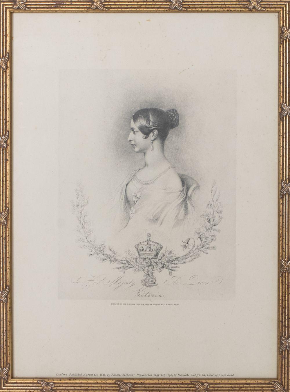 19th C. Queen Victoria Portrait Print Reproduction