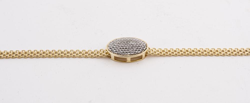 Italian Silver Vermeil & Hematite Pendant Choker