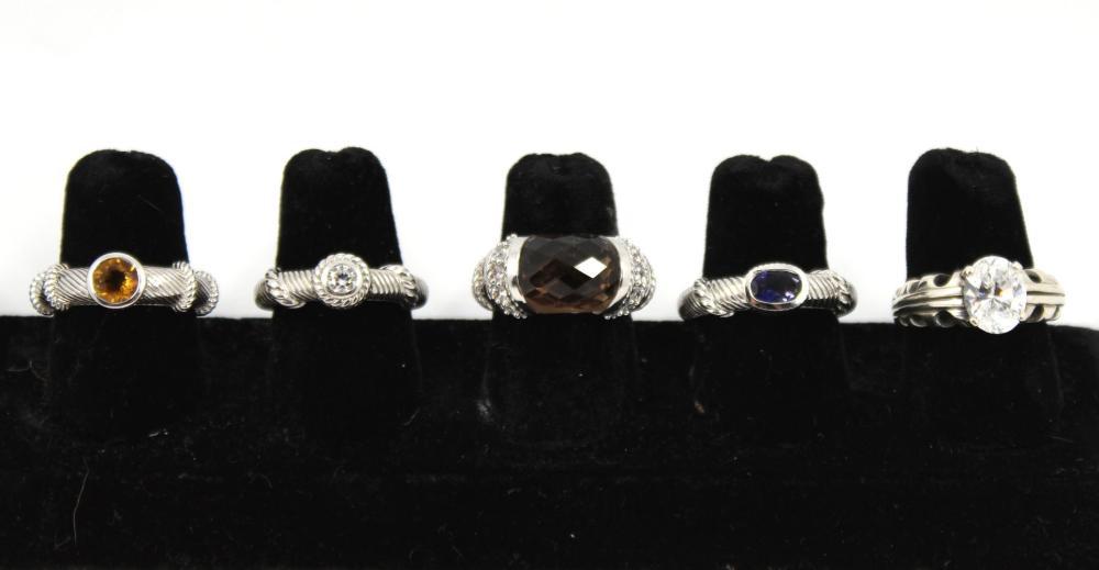 Judith Ripka And Kabana Designer Silver Rings