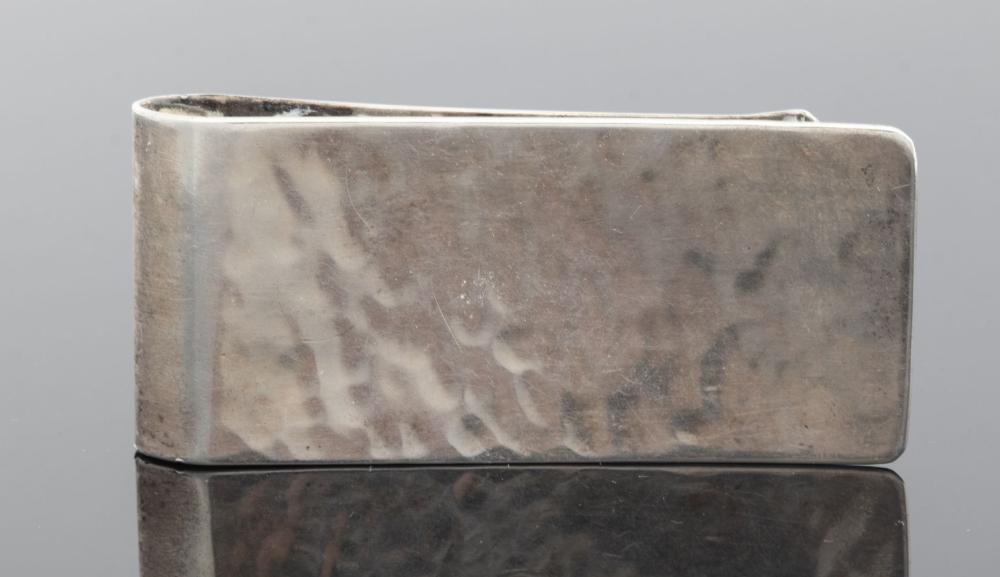 Vintage Silver Hammer Finished Money Clip
