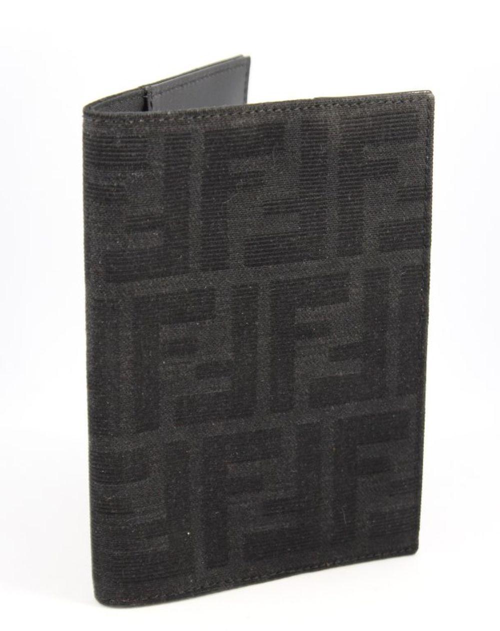 Fendi Monogram Zucca & Leather Passport Cover