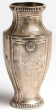 French Sterling Silver Trophy Vase, 1922