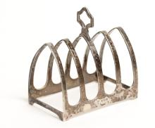 English Sheffield Sterling Toast Rack, 1933