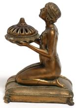 Louis Aronson Art Deco Bronze Metal Incense Burner