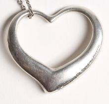 Elsa Peretti for Tiffany Sterling Silver Heart Necklace
