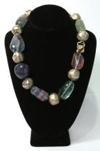 Alice Kuo Vintage Silver-Tone & Crystal Necklace