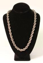 Heavy Silver Rope Necklace