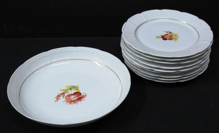 Vintage Nymphenburg German Porcelain Fruit Service