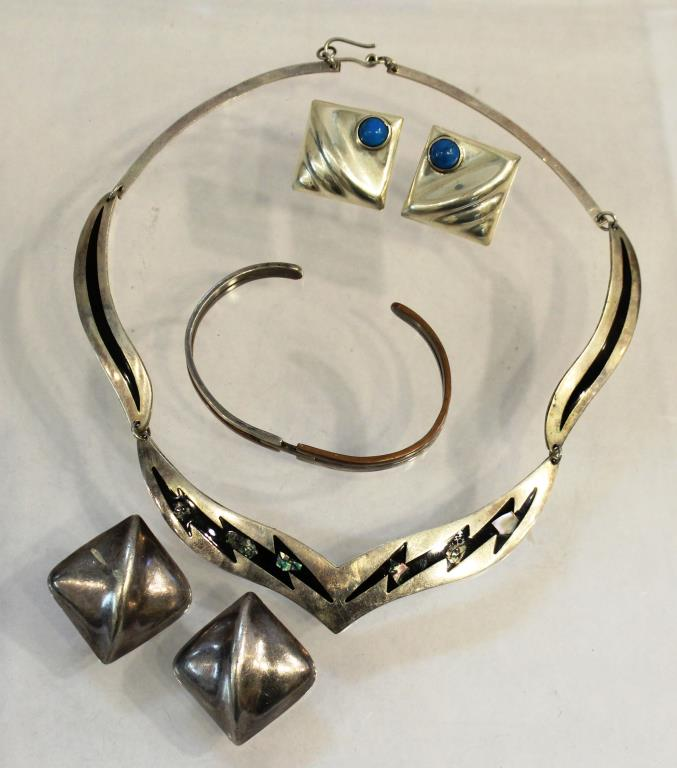 4 Vintage Mexican Sterling Jewelry Articles