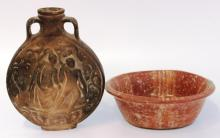 2 Vintage Ethnic Pottery Items