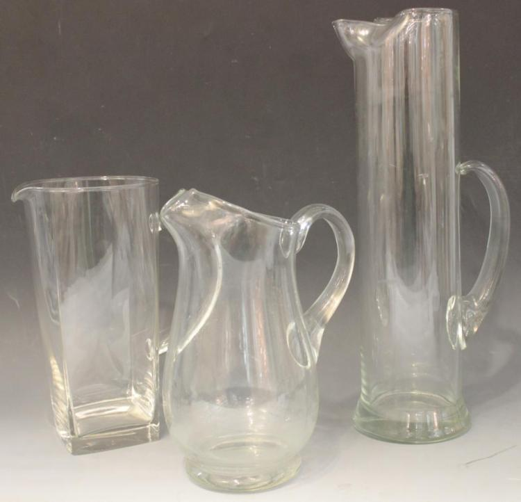 3 Assorted Crystal & Glass Pitchers