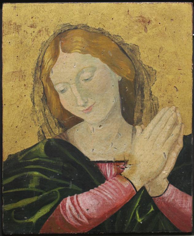 After Raphael - Oil on Board, Madonna