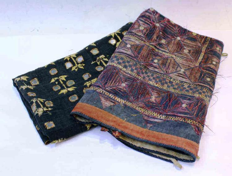 2 Hand-loomed Indian Textiles