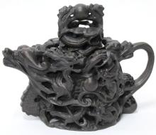 Contemporary Chinese Cast Iron Dragon Teapot