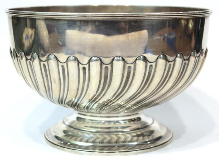 English Silver Punch Bowl, ca. 1928