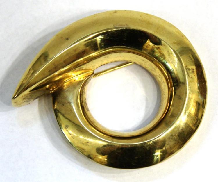Patricia von Musulin Vintage Vermeil Silver Brooch