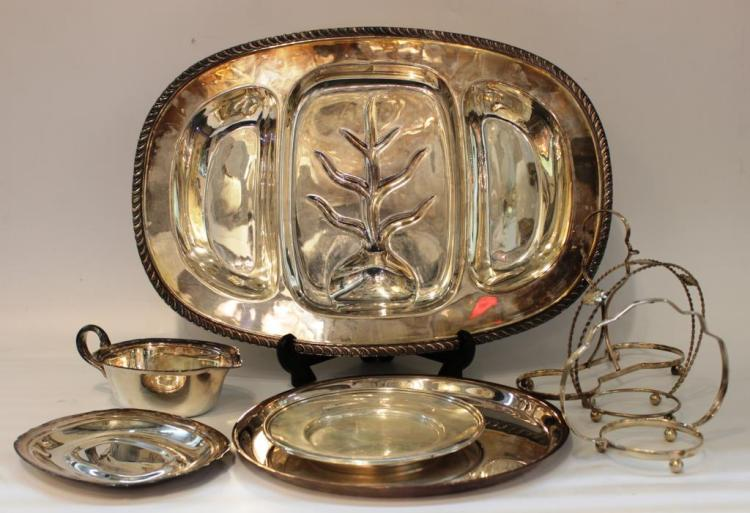 Assorted Silver-Plate Serving Items