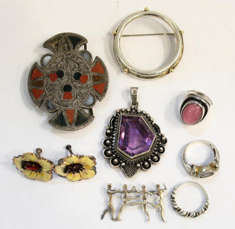 8 Vintage Silver Jewelry Articles