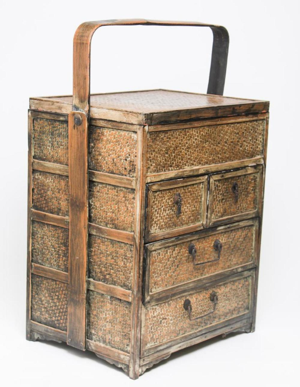 asian rattan portable small chest of drawers. Black Bedroom Furniture Sets. Home Design Ideas