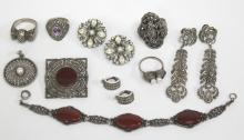 10 Silver Costume Jewelry Pieces