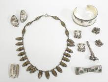 8 Women's Costume Jewelry Articles, incl. Silver