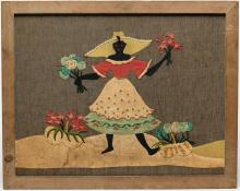 African Americana- Folk Art Textile Embroidery