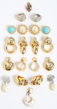 Assorted Gold- & Silver-Tone Costume Earrings