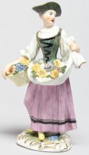 18th Century Meissen Figure Of Woman