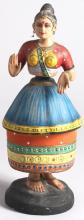 Vintage Indian Classical Dancer Bobble Doll