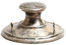 20th Century Weighted Silver Inkwell