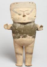 Tall Pre-Columbian Style Standing Female Figure