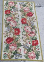 Vintage Needlepoint Embroidery Table Runner