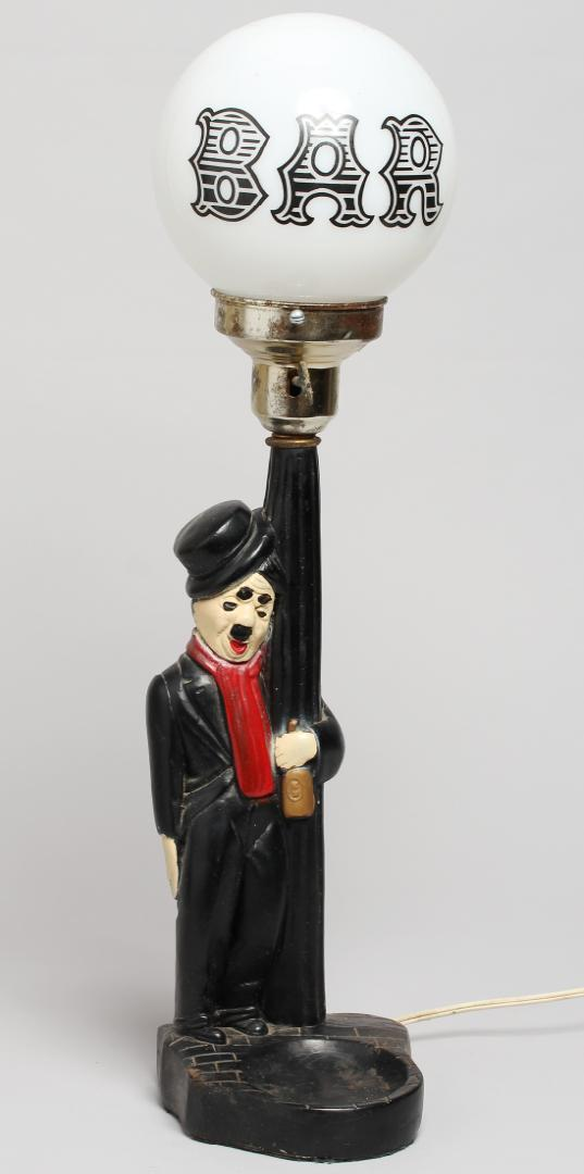 Charlie Chaplin Bar Globe Novelty Lamp