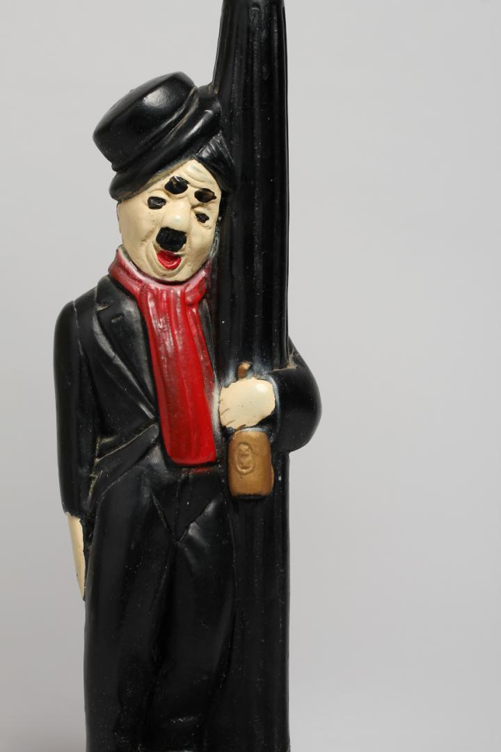 Vintage Charlie Chaplin Bar Globe Novelty Lamp