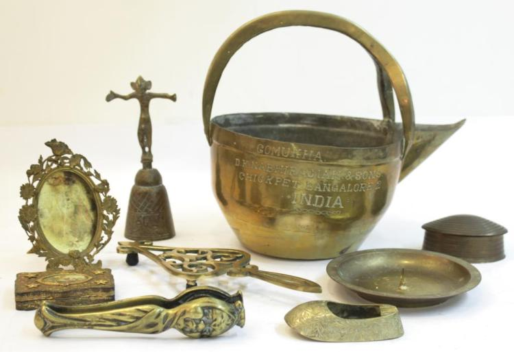 9 Assorted Brass Items