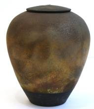 Signed C. Mutti- Raku Studio Pottery Jar