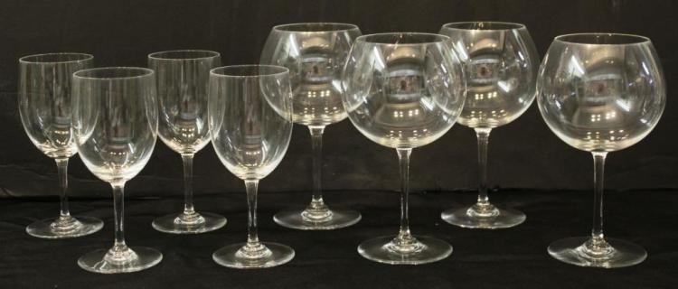 8 Baccarat Crystal Wine Glasses
