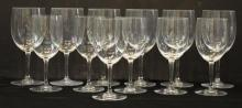 12 Baccarat Crystal Wine Glasses