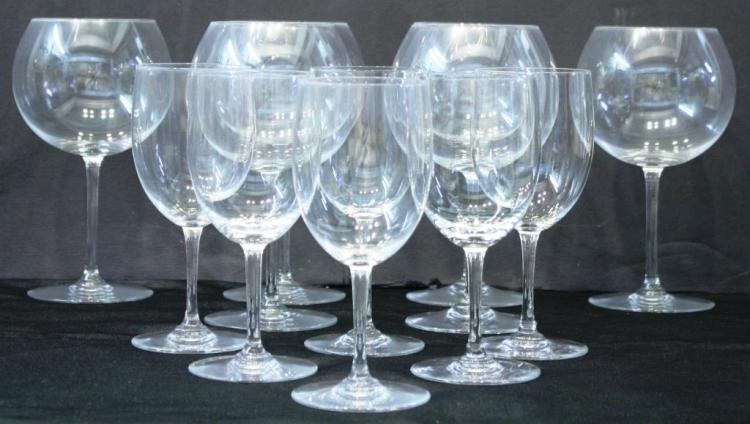 11 Baccarat Crystal Wine Glasses