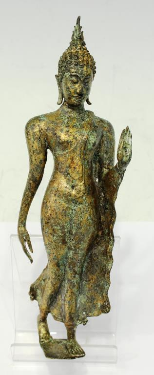 Gilt Brass Figure of a Standing Buddha