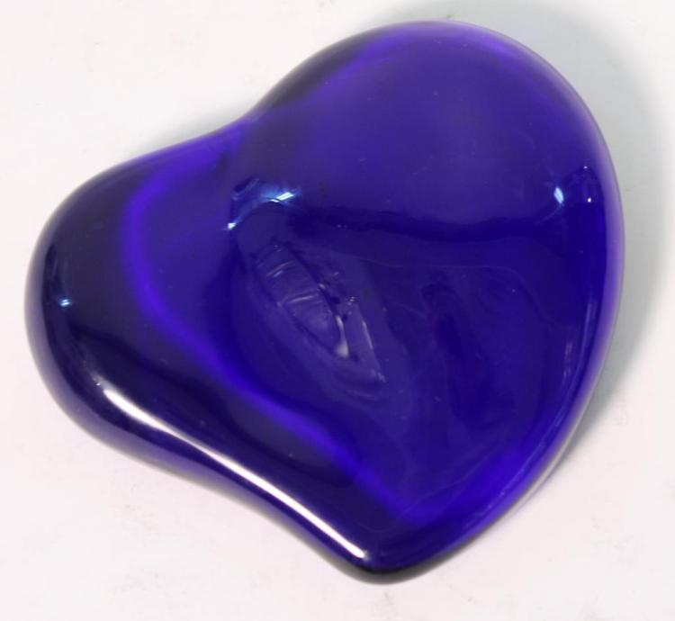 Elsa Peretti for Tiffany Cobalt Glass Paperweight