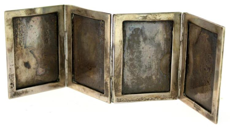 Vintage Sterling Folding Picture Frame, Mexico