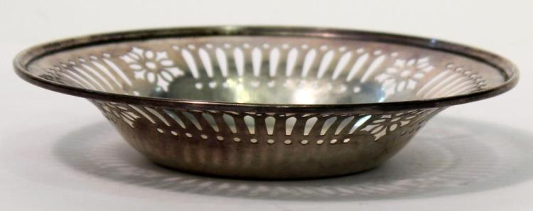 Gorham Sterling Reticulated Candy or Nut Dish